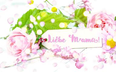 Liebe mama Karte Hintergrund Muttertag Dank