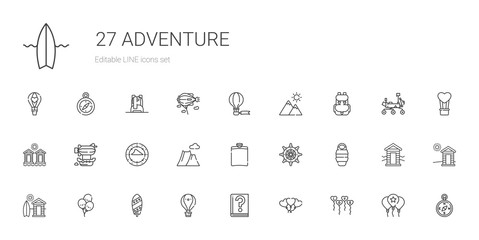 adventure icons set