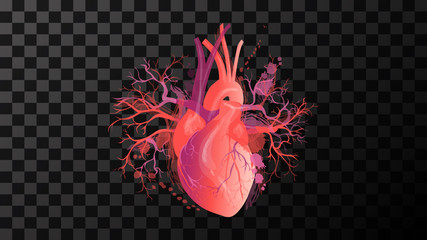 heart Red art illustration vector isolated background