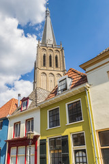 Fotomurales - Colorful houses and church tower in Doesburg, Netherlands