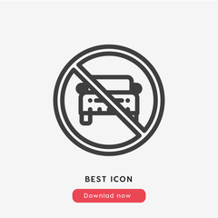 no parking icon vector