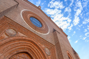 Vigevano, italy: historic church