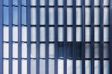 Moderne Bürohausfassade in Düsseldorf