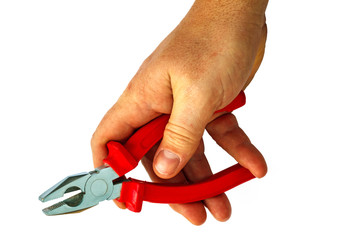 pliers in hand