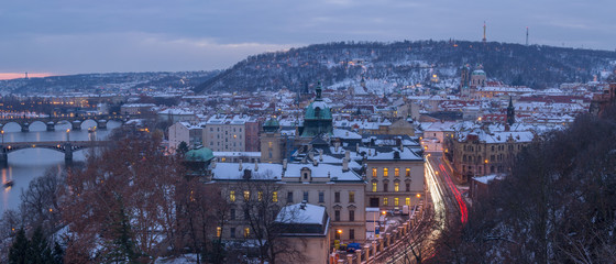 Fototapete - Prague in Winter, Czech Republic