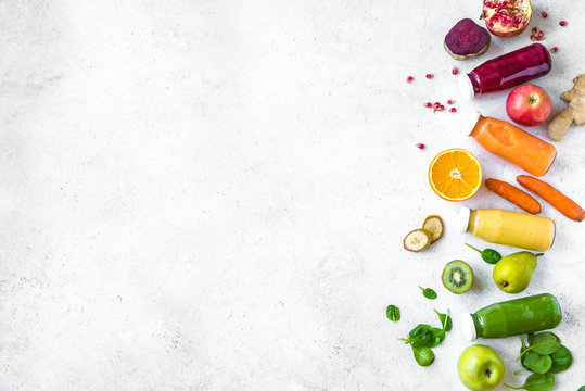 Smoothies and ingredients