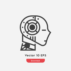 robot ai icon vector
