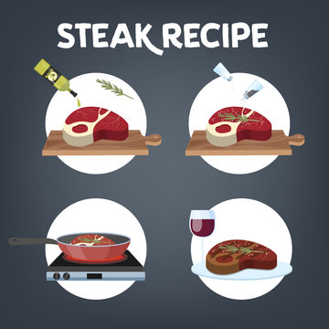 How to cook steak recipe. Homemade meat