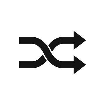 Two crossed arrows. Vector. Isolated.