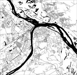 map of the city of Nizhny Novgorod, Russia