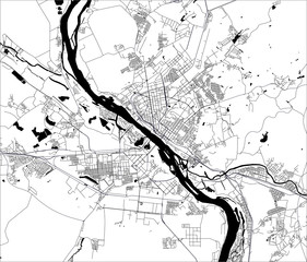 map of the city of Novosibirsk, Russia