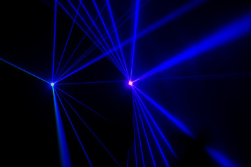 Stage lights with laser