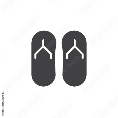 7398fbaa1134cd Flip flops vector icon. filled flat sign for mobile concept and web design.  Summer slippers simple solid icon. Beach sandals symbol