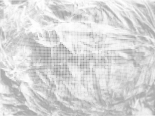 Halftone gradient pattern. Abstract halftone dots background. Monochrome dots pattern. Grunge radial texture. Pop Art, Comic small dots. Design for presentation, business cards, report, flyer, cover