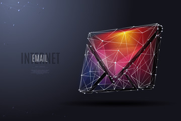 email low poly color