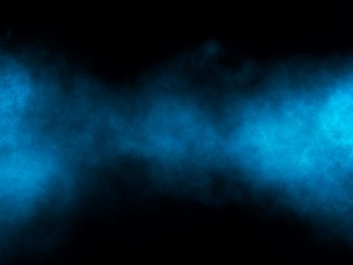 The blue smoke and light is in thedark background. Illustration from digitalpain for background.