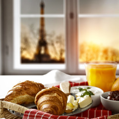 Continental breakfast and window space