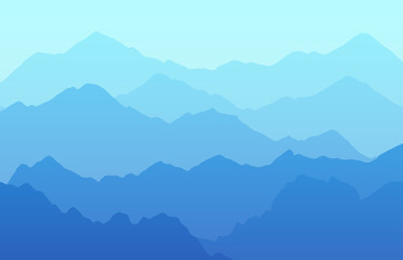 Vector landscape background with mountains