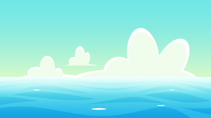 Panoramic nautical landscape background