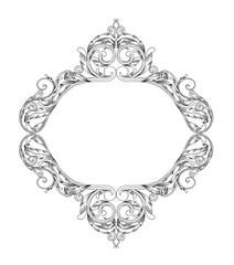 black and white ornament frame