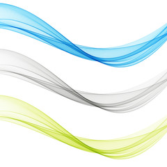 Smooth clear beautiful waves set.Wave abstract background.