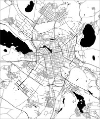 map of the city of Yekaterinburg, Russia