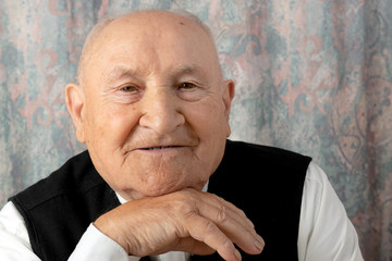 Old senior man portrait