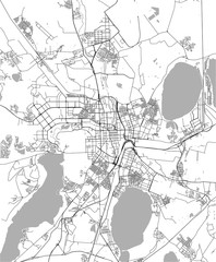 vector map of the city of Chelyabinsk, Russia