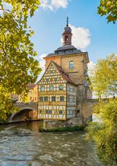 Historic town hall of Bamberg, Bavaria, Germany