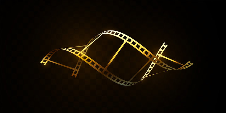 Film strip isolated on black background