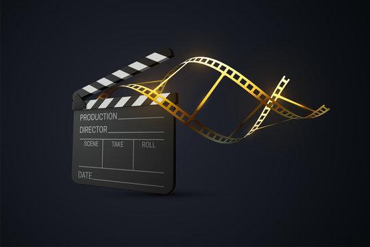 Film clapper board.