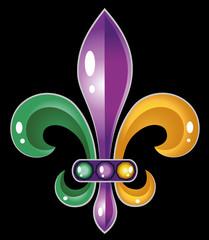 Fleur De Lis Mardi Gras Karneval Fasching Lilie Symbol