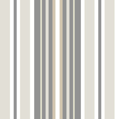 Classic shirting stripe in warm neutral colors, white, hues of brown, grey. Seamless vector pattern. Great for textiles, stationery, home decor, gift wrapping paper, product packaging. Sophisticated.