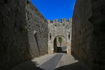 Visiting the old town of Rhodes