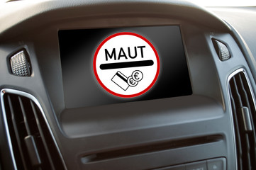 Auto Display mit Maut