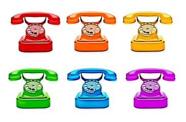 Colorful Retro Telephones