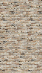Old dirty red brick wall texture background. Vertical picture of brick wall.