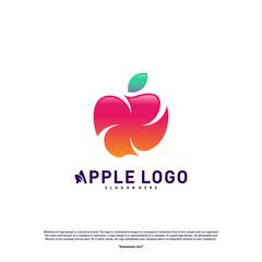 Apple logo design concept vector. Fruit Apple Creative Logo vector template. Icon symbol
