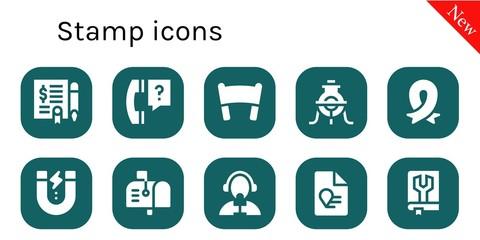 stamp icon set