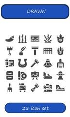 drawn icon set