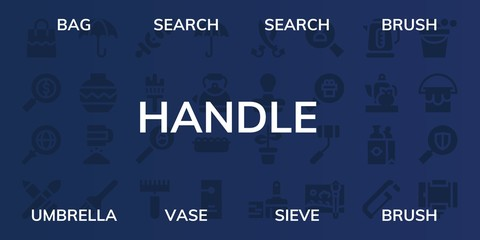 handle icon set