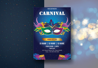 Carnival Party Flyer Layout