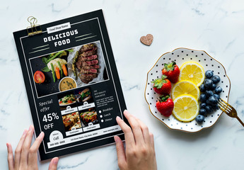 Food Menu Flyer Layout