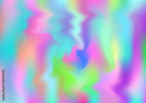 Hologram Magic Dreamy Vector Background  Rainbow Girlie