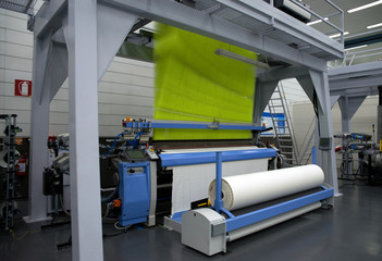 Weaving automatic machines - Weaving is a method of textile production in which two distinct sets of yarns or threads are interlaced at right angles to form a fabric or cloth.