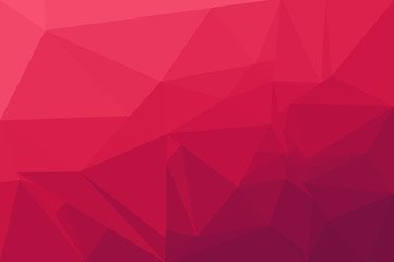 Red polygonal abstract background blurry design.