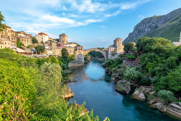 Old Bridge and Cityscape of Mostar