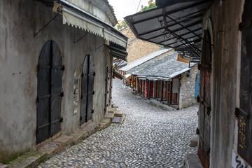Cobblestone Street in Mostar, Bosnia