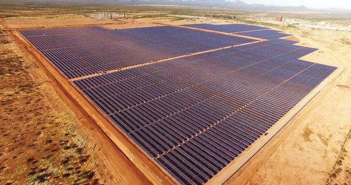 solar power panels in desert