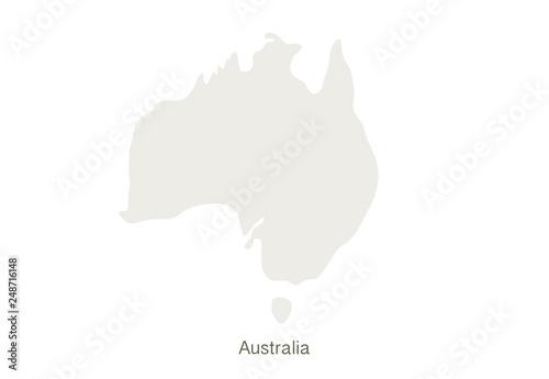 Australia Map Template.Mockup Of Australia Map On A White Background Vector Illustration